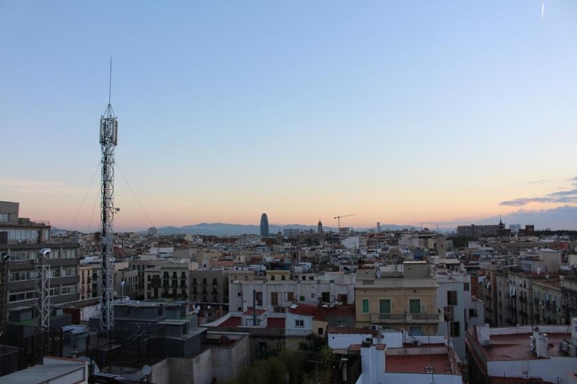 Barcelona, Spain, Sunrise, Sky