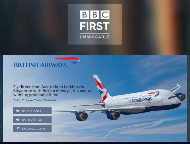British Airways, BBC First, Sydney - London Offer
