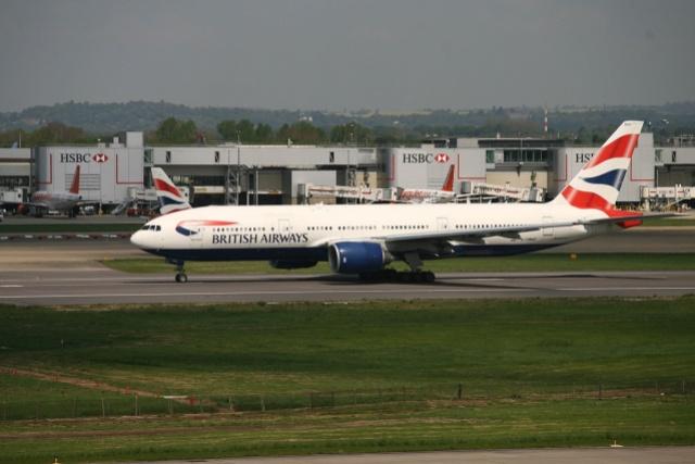 British Airways Boeing 777 at London Gatwick