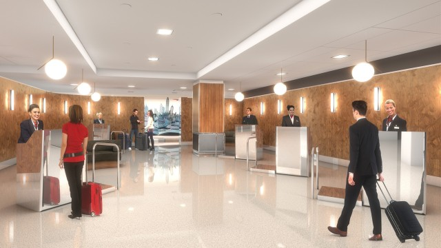 British Airways New York JFK Terminal 7 - Planned Premium Check-In Area (Credit: British Airways)